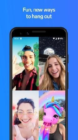 videollamda en la app facebook messenger
