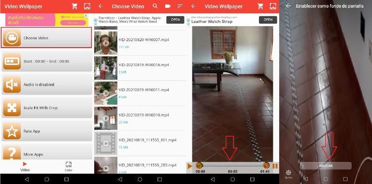 pasos video wallpaper