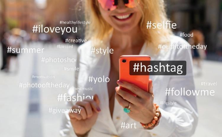 hashtag en un movil