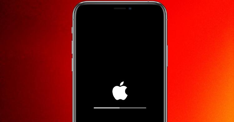 un iphone que se está actualizando